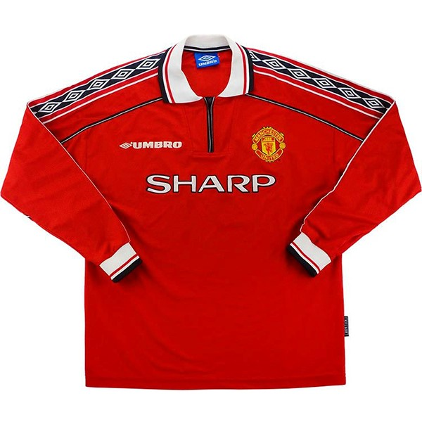 Camiseta Manchester United 1ª ML Retro 1998 1999 Rojo