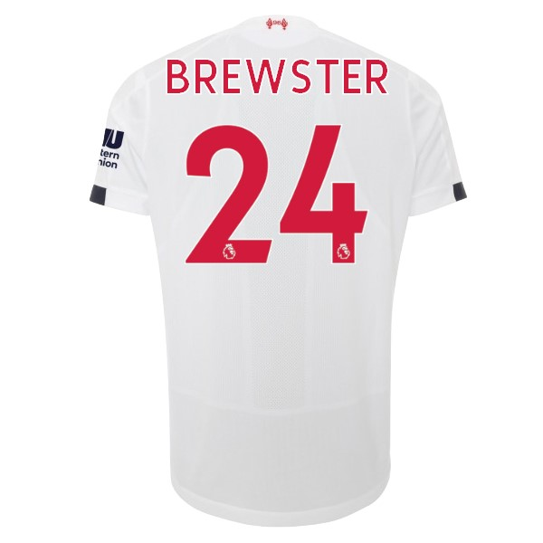 Camiseta Liverpool NO.24 Brewster 2ª 2019-2020 Blanco