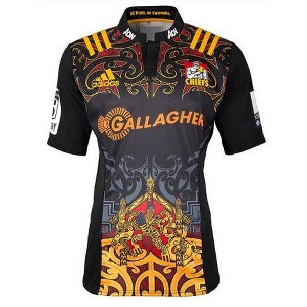 Camiseta Rugby Chiefs 1ª 2017-2018 Negro