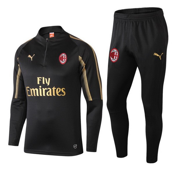 Chandal AC Milan 2018-2019 Negro Or