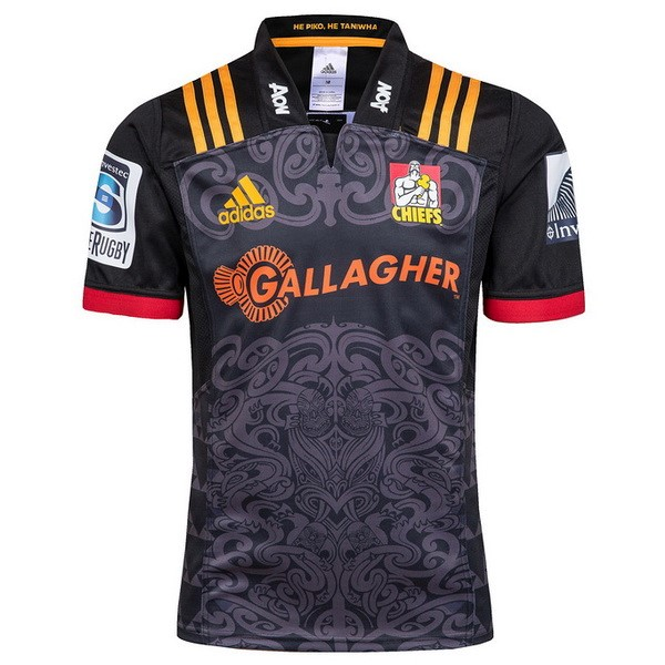 Camiseta Rugby Chiefs 1ª 2018 Negro