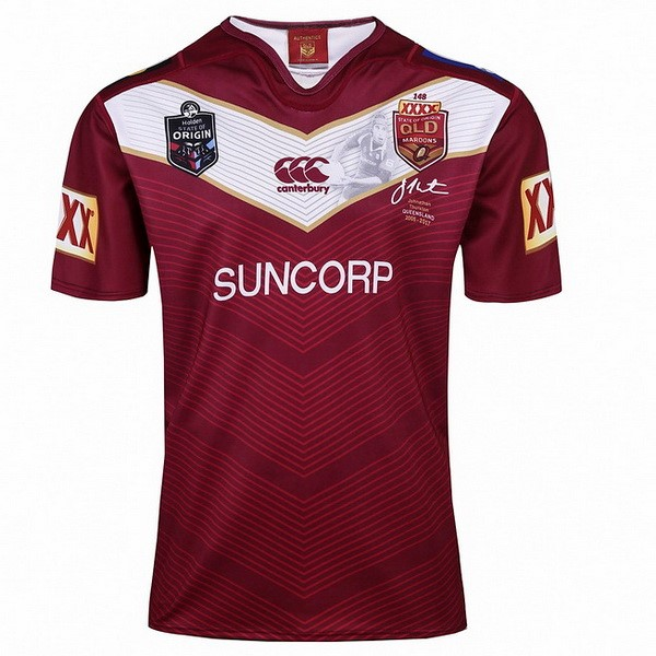 Camiseta Rugby Thurston QLD Maroons 2017-2018 Rojo